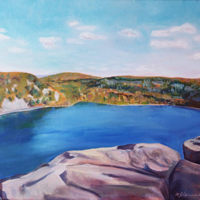 "20"" x 16"" View from the West Bluff Devil's Lake"